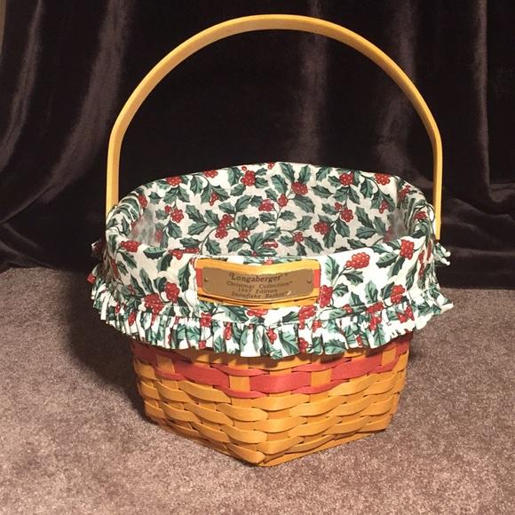 Longaberger Christmas Basket.Longaberger Christmas Collection Snowflake Basket